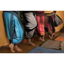 Ilyen a Bharata Bő jóga nadrág, indiai nadrág női-férfi, aladdin nadrág, indiai háremnadrág